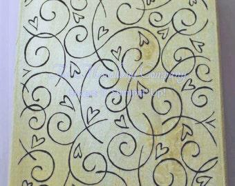 Soft Swirls-Background Stamp (retired Stampin' Up!)