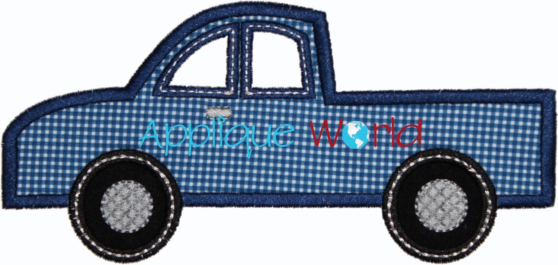 Truck applique embroidery design instant digital download
