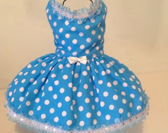 Pretty Polka Dot Dog Dresses for all small breed dogs