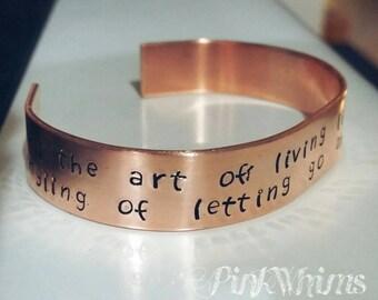 Aluminum bracelet engraved