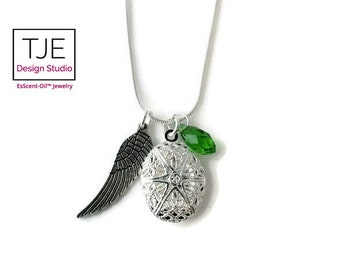 Essential Oil Diffuser Necklace-Angel Wing-Essential Oil-Petite Diffuser