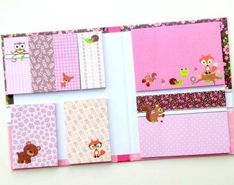 Sticky Notes booklet / book / set with cute critters