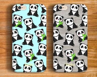 Cute Panda iPhone 6 Case, iPhone 6 Plus Case, iPhone 7 Case, iPhone 5C Case, 2 in 1 Case, S6 Case, iPhone 7 Plus Case, iPhone 6s Case