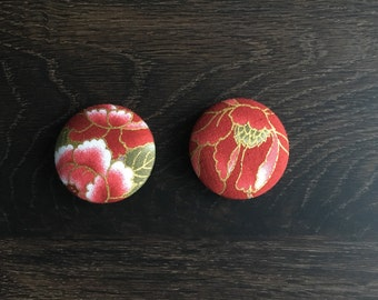 Rose Fabric Magnets (Large)