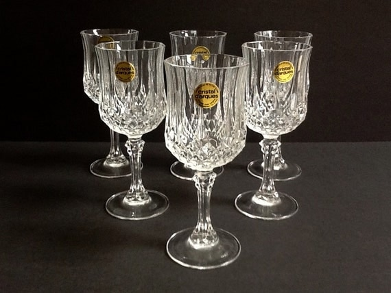 cristal d 39 arques longchamp crystal cordial glasses set of. Black Bedroom Furniture Sets. Home Design Ideas