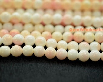 "15"" 6mm Blush Pink Queen Conch shell round Beads,  jewelry supply,Natural Pink Queen Conch shell round beads, pink shell beads"