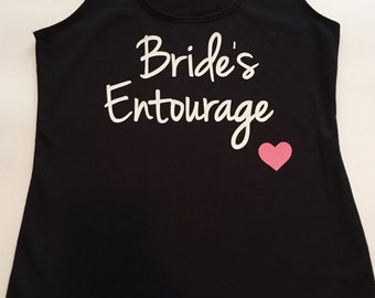 Bride's Entourage Wedding Tank Top, Bridal Party Tanks, Bridesmaid Shirt