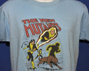 Deadstock 1984 The New Mutants t shirt marvel comics x men NOS *M