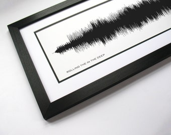 Rolling in the Deep - Music Art Sound wave Print - Song Lyric Art, Artist Poster