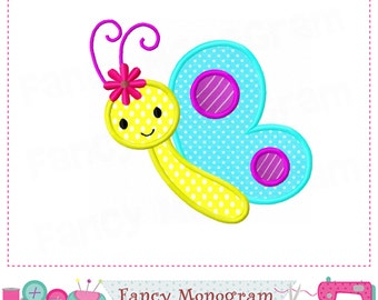 Butterfly applique,Butterfly embroidery,Spring Butterfly applique,Butterfly.-002