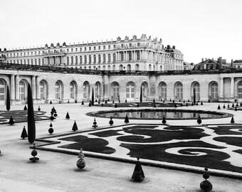 Paris black and white photography, Versailles, Versailles garden, Paris photography, black and white photo, Paris decor, fine art print