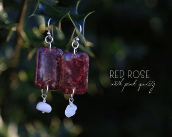 Red Rose Earring