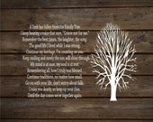Sympathy Gift - A Limb Has Fallen From Our Family Tree Wood Sign or Canvas Wall Decor -  Christmas Gift, Family, Parent Memorial,