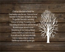 A Limb Has Fallen From Our Family Tree Wood Sign or Canvas Wall Decor -  Christmas Gift, Family, Parent Memorial,