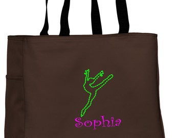 Personalized Tote Bag Embroidered Tote Bag Custom Tote Bag - Sports - Dance2 - B0750