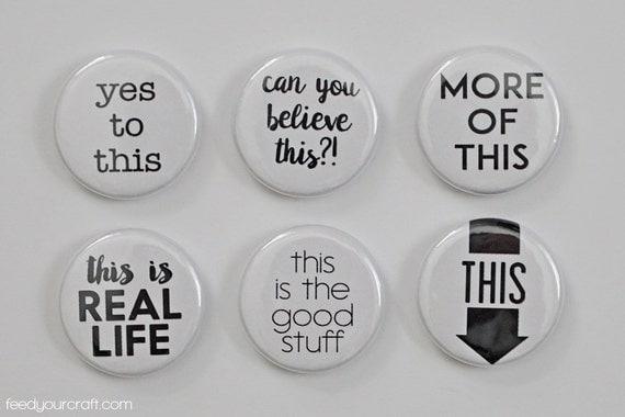 Ce B & W Flair Mini Badges