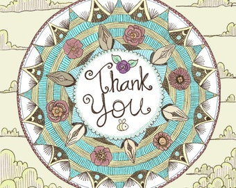 Thank You Mandala Card