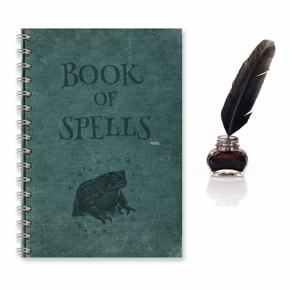 A5 Spell Book Notebook / Journal Ideal Christmas Gift or Stationery for Fans of Harry Potter,  Magic Spells and Fantasy