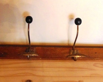 French vintage 4 hook coat rack
