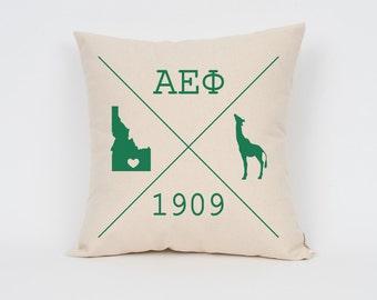 Alpha Epsilon Phi Icons Custom Pillow / ΑΕΦ / Sorority Pillow / Greek Letter Pillow / Sorority Gift / Big Little Gift/ Bid Day Gift
