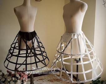 Steampunk Full Circle Steel Boned Long Crinolette Birdcage Petticoat
