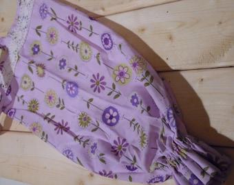 Floral, Purple Plastic Bag Holder