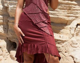 Steampunk pixie long / mini skirt (lycra) - Xhuxh (0050)