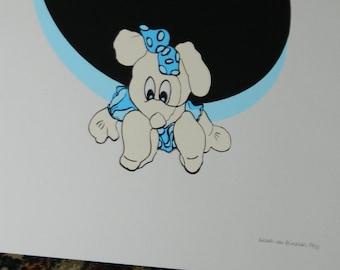 lithography. Liesbeth Van GINNEKEN lithograph Dutch graphic artist.