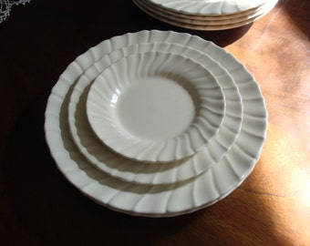 Franciscan China Coronado Off White Matte Finish Plates!