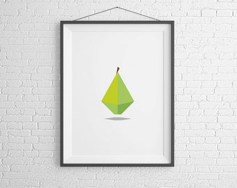 Pear Print. Home Decor. Instant Download.