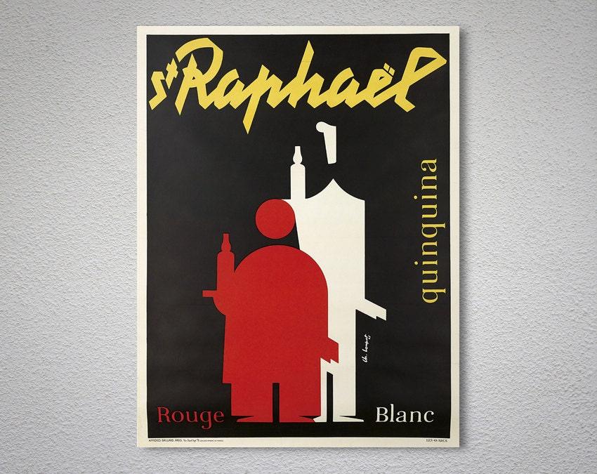 St raphael quinquina rouge blanc food drink poster - Stickers rouge cuisine ...