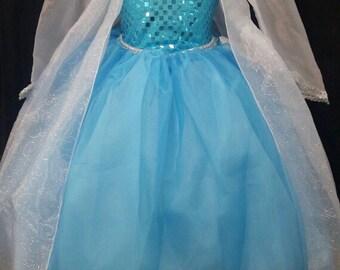 Elsa  dress , Elsa costume dress, elsa Frozen