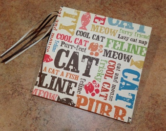 Adorable Cat-Pet 7x7 Scrapbook, Handmade Album