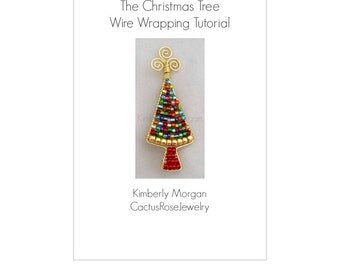 The Christmas Tree Pin, Step by step instructions and photographs.