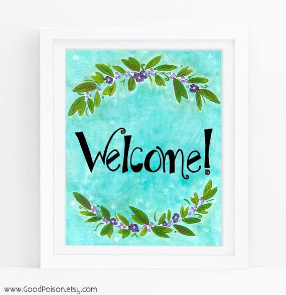 Items similar to Welcome sign printable, Business signs ...