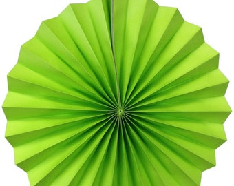 "8"" Kiwi Green Hanging Paper Pinwheel Party Decoration - Item Number: PPW080008 - Just Artifacts Brand"
