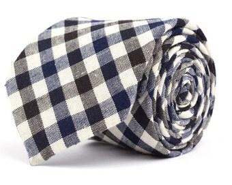 Black & Navy Plaid Necktie