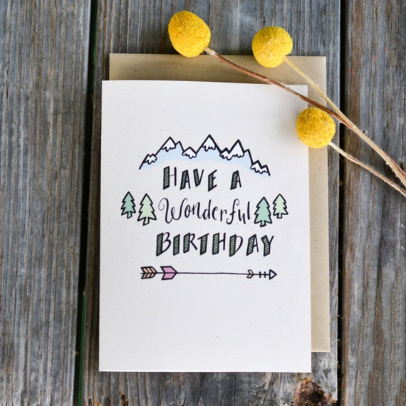 New Diy Handmade Creative Albums Romantic Souvenir: Wonderful Birthday Card Birthday Card For Him Rustic
