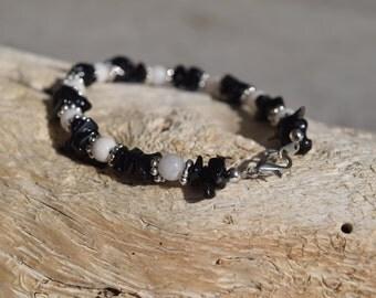 Black and White Bracelet - Black Bracelet - White Bracelet