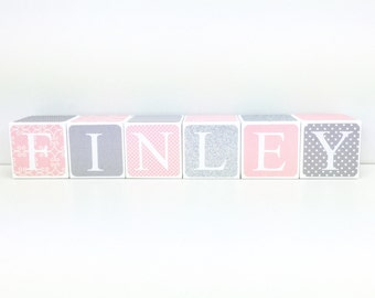 Custom Baby Name Baby Blocks Nursery Baby Shower Gift Personalized Gift