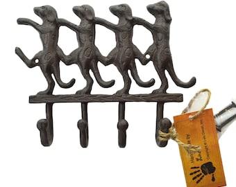 Cast Iron Dancing Dogs Key Holderfor keys [LZ30D]