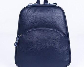 Leather backpacks, student backpacks, travel bag, backpack girl