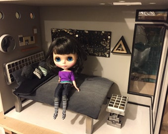 Steel Life: hand crafted room box/diorama 1/6 scale for blythe, momoko, fashion royalty, barbie, obitsu OOAK