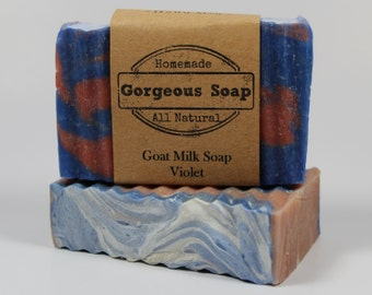 Violet Goat Milk Soap - All Natural Soap, Handmade Soap, Homemade Soap, Handcrafted Soap