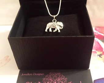 Silver Indian Elephant Necklace All Handmade