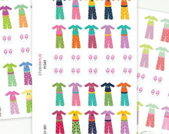 Pyjama Day - Planner Stickers - Removable Matte Vinyl - Pajama Day -