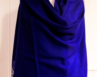 50%OFF SALE, Elegant Indigo Pashmina, Limited Offer, Free Shipping, Gift for her
