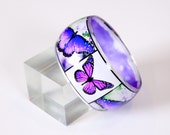 The Butterfly Resin Bangle