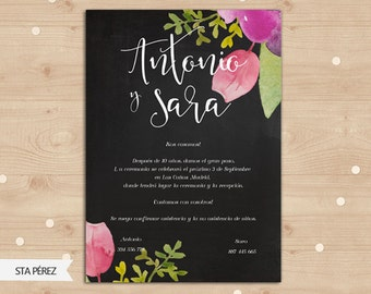 Digital wedding invitatión.