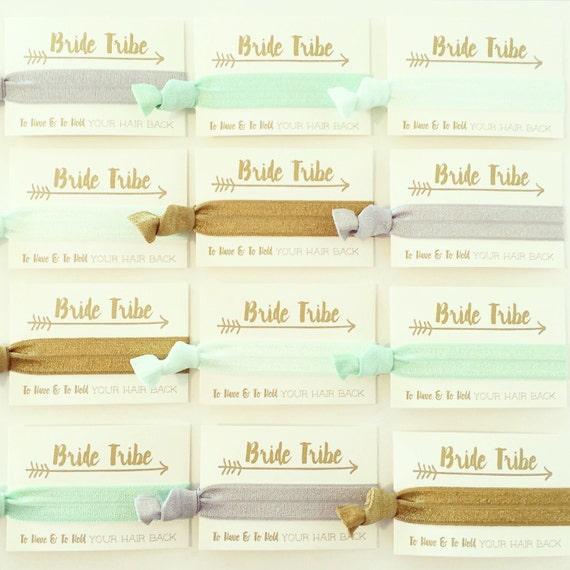 CHOOSE YOUR COLORS Bachelorette Hair Tie Favors | Bride Tribe Hair Tie Favors, Colorful Bachelorette Party Hair Tie Favors, Bridesmaid Gift
